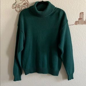 Doncaster Sport Green Turtleneck Sweater